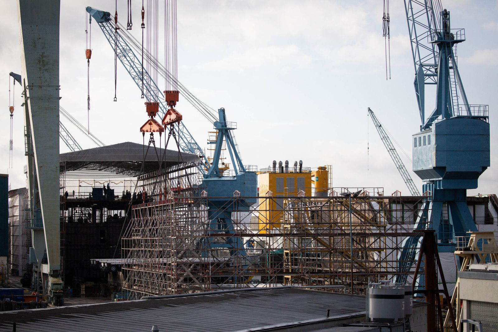 Pella Sietas Werft in Hamburg