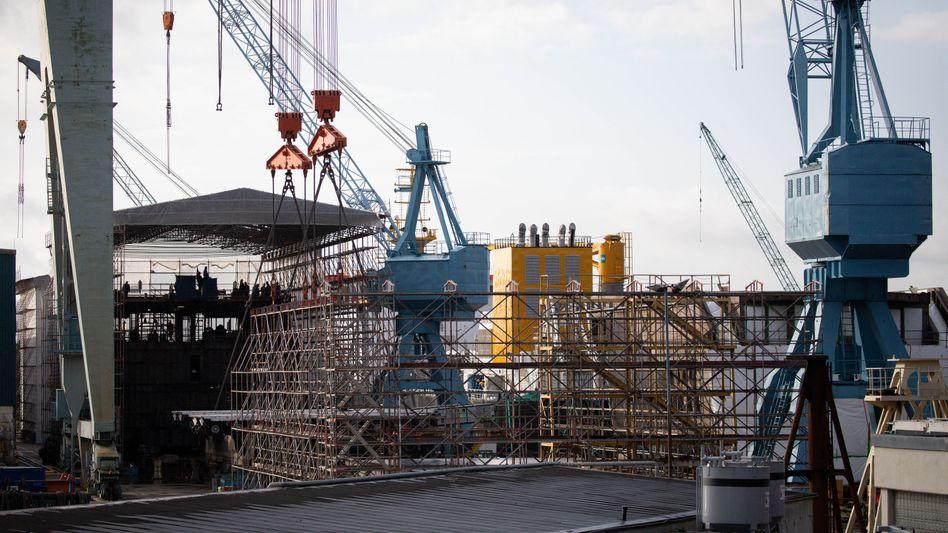 Sietas-Werft (Archivbild): SOS aus Hamburg