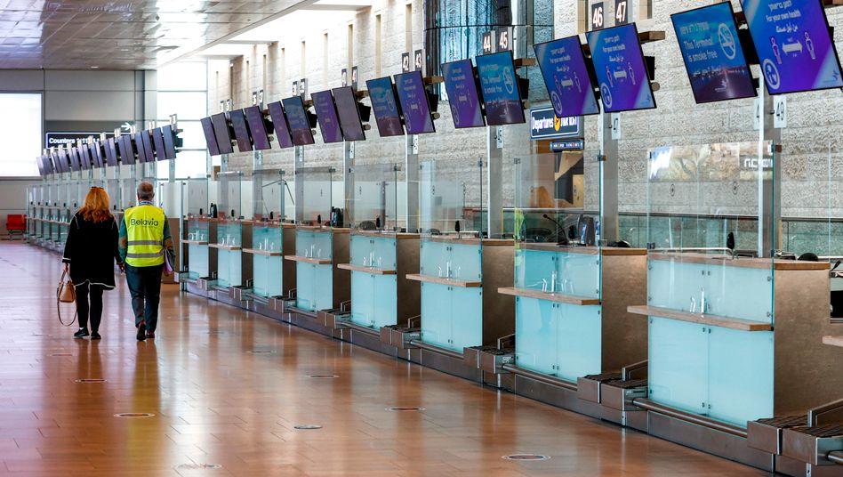Leere am wichtigsten israelischen Flughafen Ben Gurion: Stopp aller internationalen Flüge bis auf wenige Ausnahmen