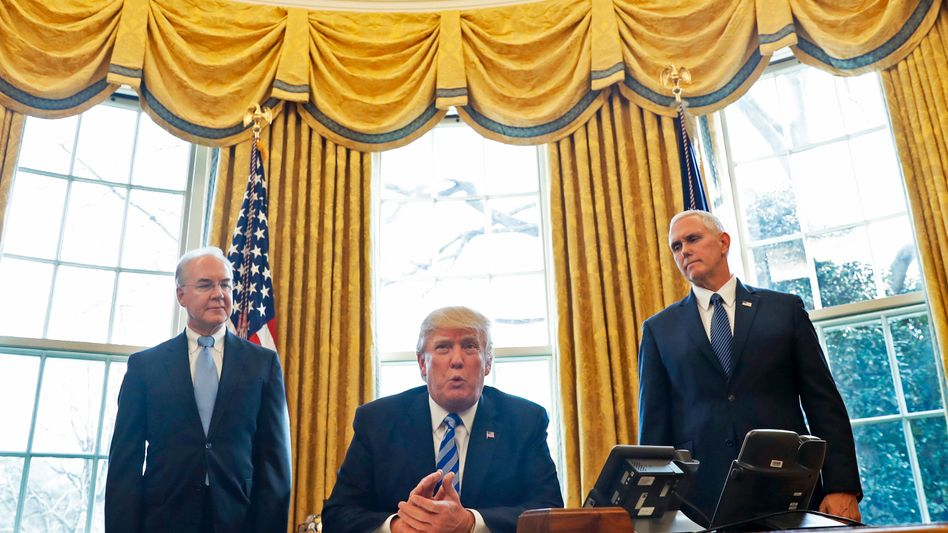 Nach Gesundheitsreform-Pleite: Jetzt will Trump sich an der Steuer versuchen