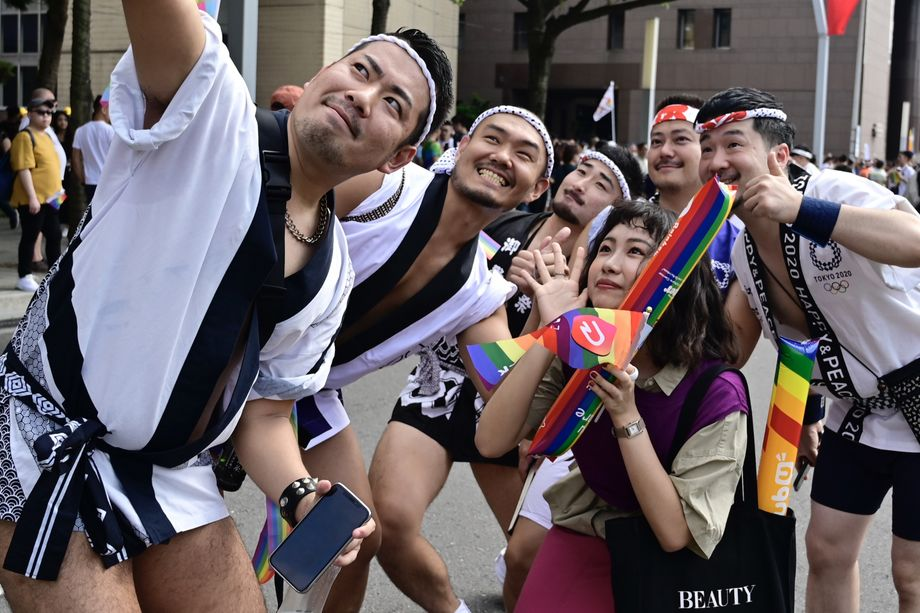 Teilnehmer einer Gay-Pride-Parade in Taiwans Hauptstadt Taipeh im Oktober 2019