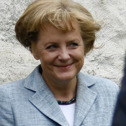 German Chancellor Angela Merkel: More popular abroad than most other politicians in her league.
