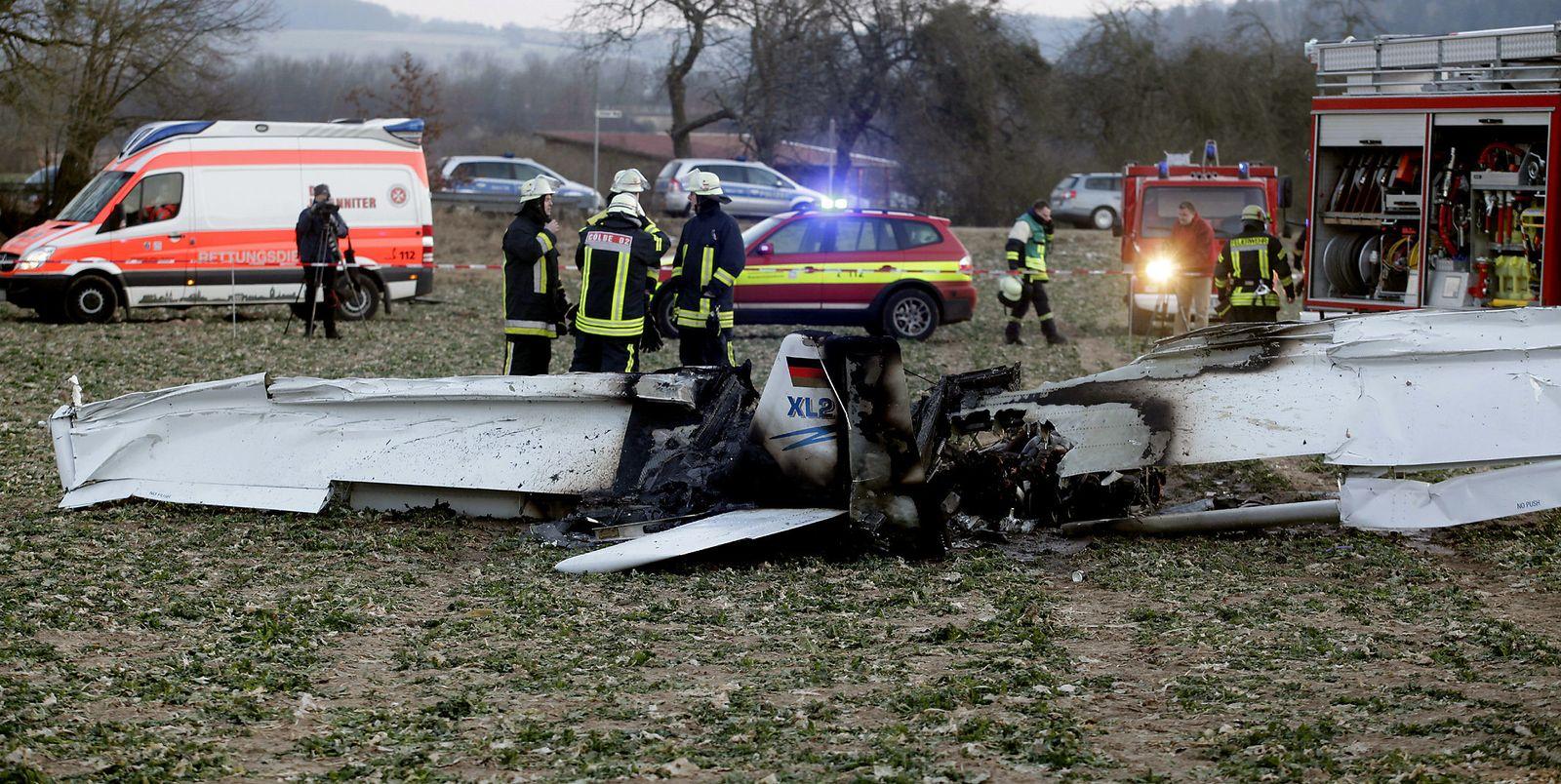 Zwei Tote bei Flugzeugabsturz in Cölbe