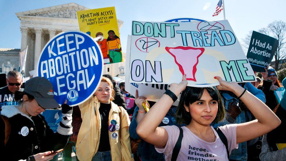 Demonstration für Frauenrechte vor dem Supreme Court in Washington (Symbolbild)