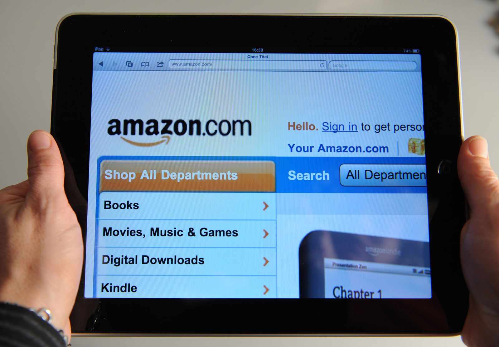 Amazon auf iPad