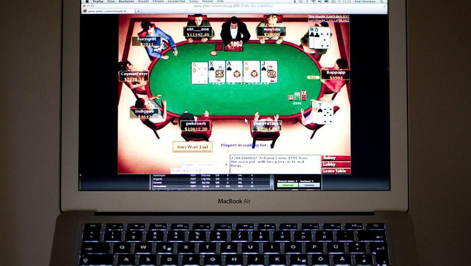 Online-Pokerspiel: Offensive gegen Zocker