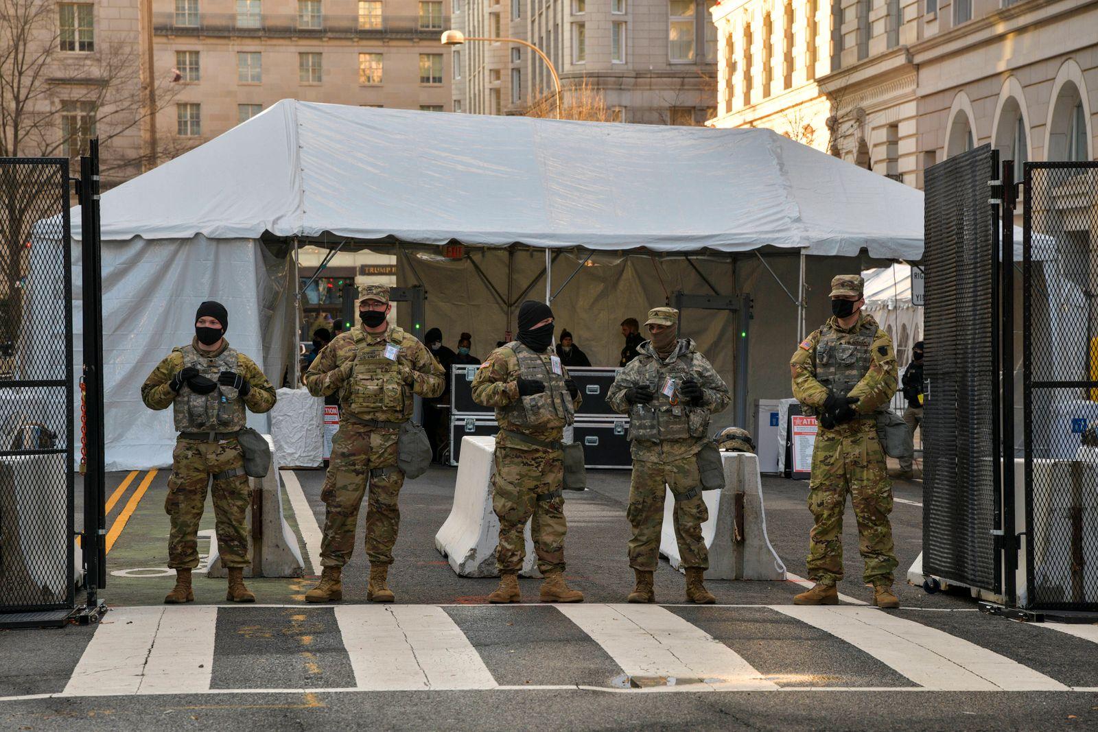Washington, Amtseinführung des neuen US-Präsidenten Joe Biden - Sicherheitsvorkehrungen Washington DC - January 20: Inau