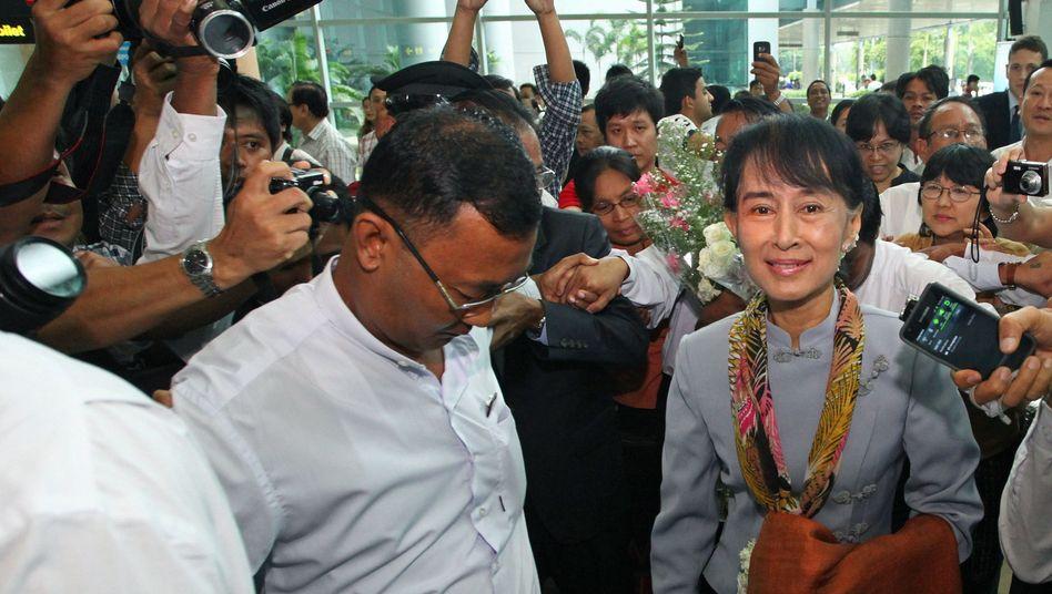 Suu Kyi vor ihrer Abreise nach Europa: Geplante Rede in Oslo