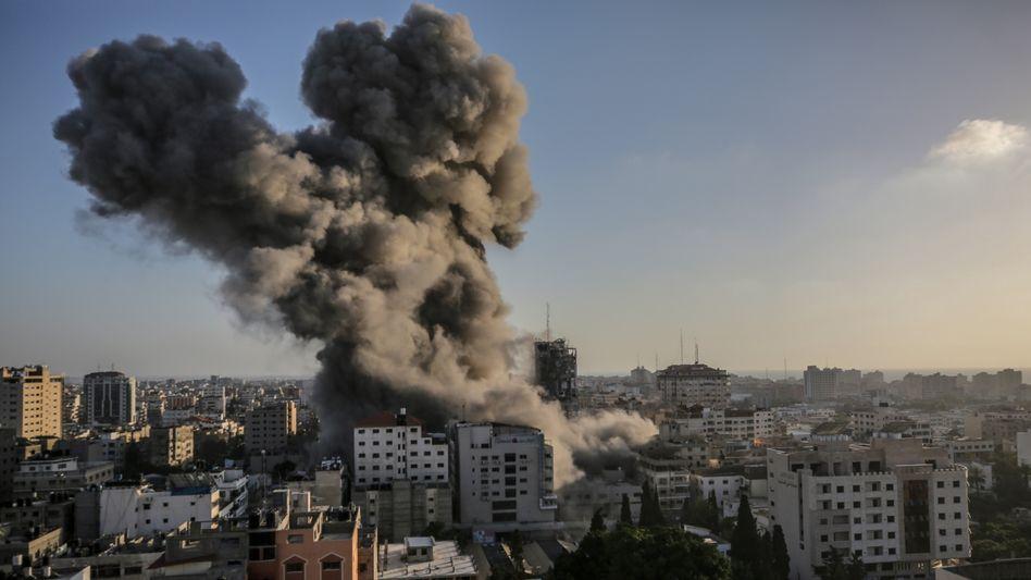 Explosion im Gazastreifen nach israelischem Luftschlag