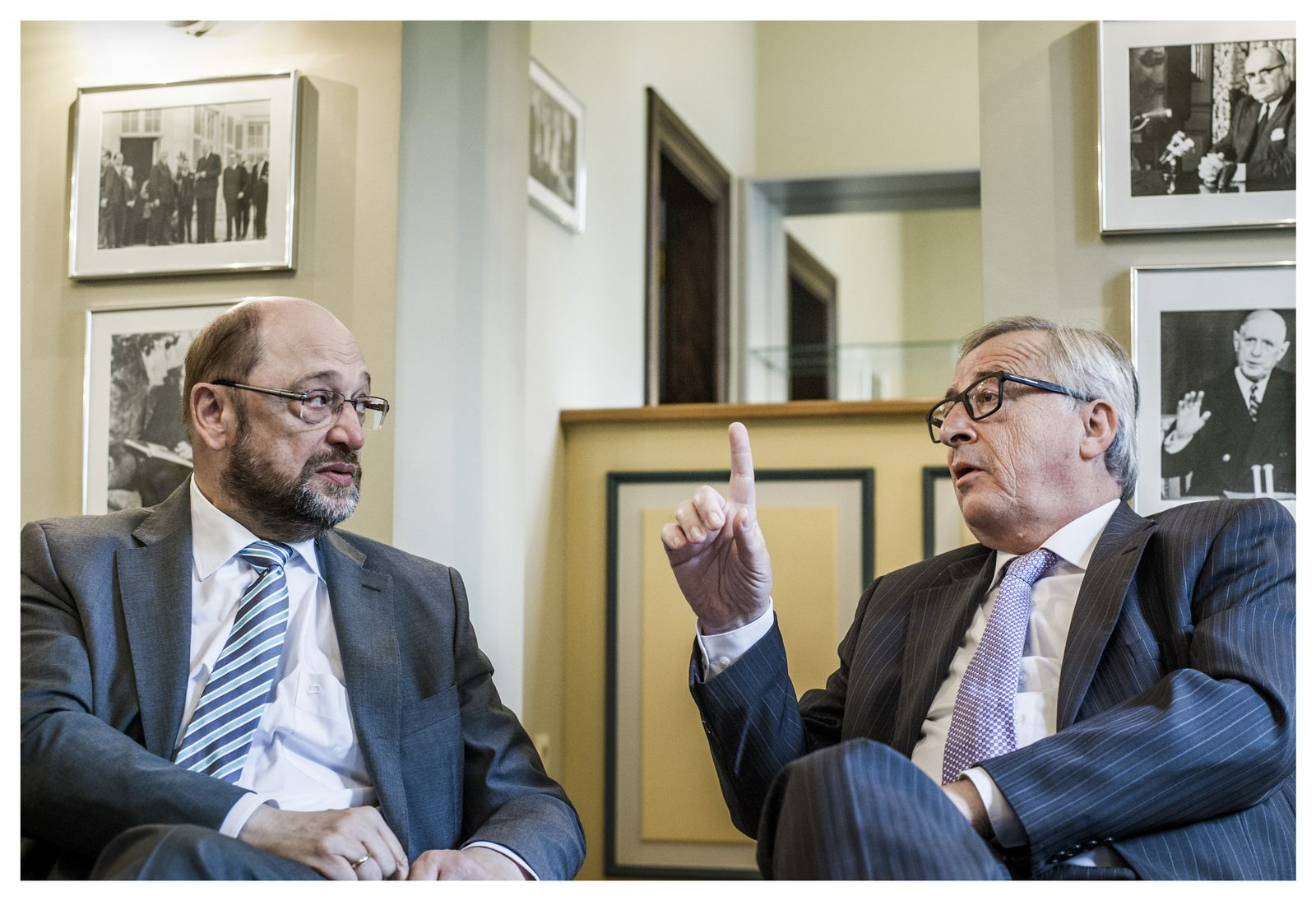 EINMALIGE VERWENDUNG Spiegel Gespraech Juncker Schulz