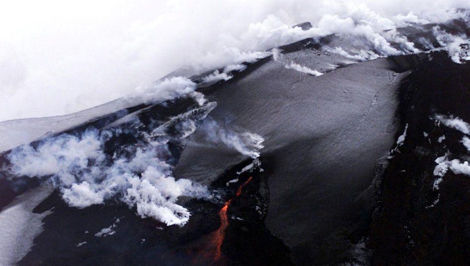 Ausbruch des Hekla im Jahr 2000: Die Eruption bleib ohne Folgen für Europa