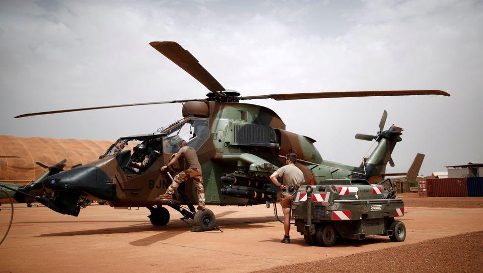 Französischer Tiger-Kampfhubschrauber in Mali (August 2019): Eine Gedenkfeier für die getöteten Soldaten ist für Montag in Paris geplant