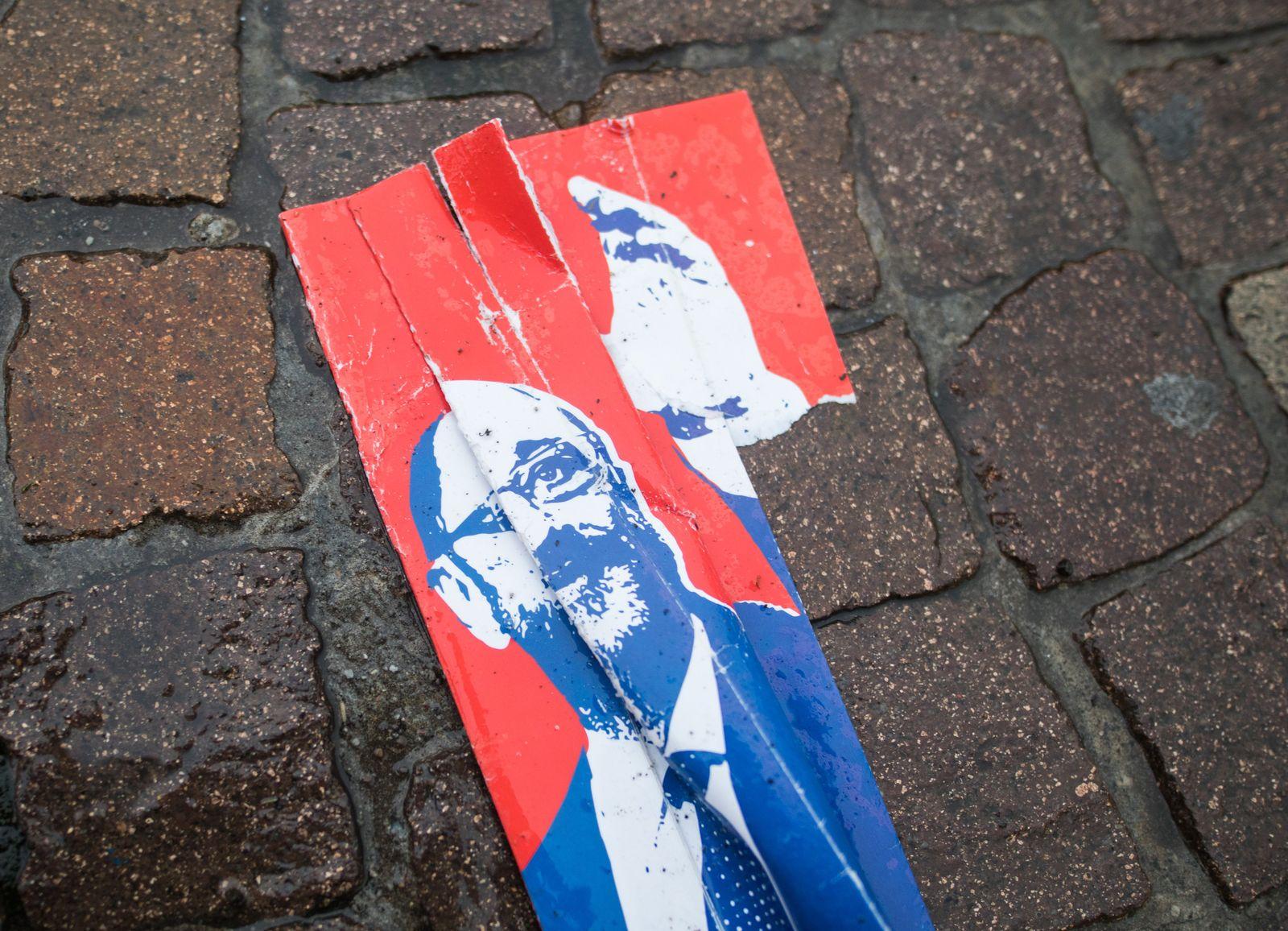 SPD/ Plakat/ Regen