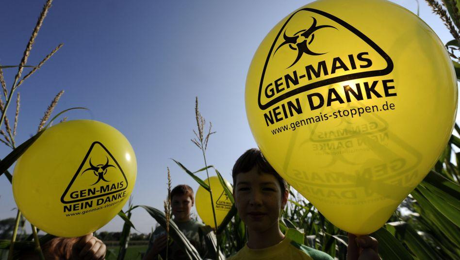 """""""Gen-Mais nein danke"""": Protest gegen Gen-Mais auf Testfeld (11.06.12)"""