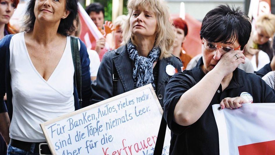 Protestierende Schlecker-Mitarbeiterinnen