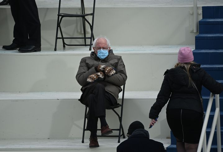 Vielsagender Anti-Style: Bernie Sanders bei der Inauguration