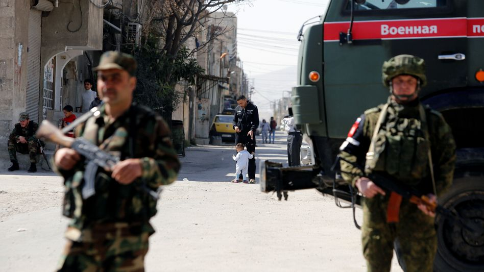 Soldaten in Damaskus (Archivaufnahme)