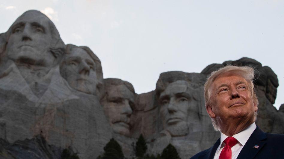 US-Präsident Donald Trump am Mount Rushmore, South Dakota, am 4. Juli