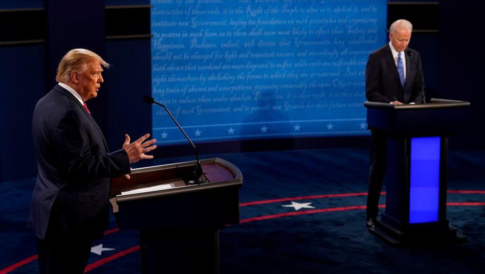 Donald Trump und Joe Biden trafen in Nashville aufeinander
