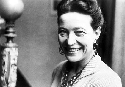 """French existentialist writer and feminist Simone de Beauvoir: """"One is not born a woman, one becomes one."""""""