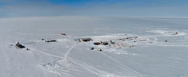 Summit Station, as seen from the air