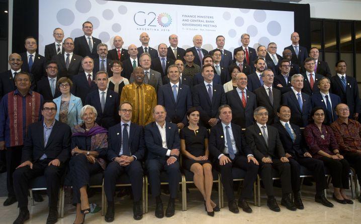 Finanzminister und Notenbankchefs bei der Konferenz von IWF und Weltbank