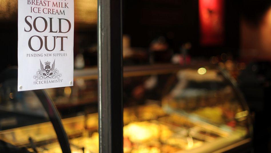 """""""Ausverkauft"""": Die erste Lieferung des Muttermilch-Eises war ein Hit"""