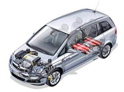 Opel Zafira CNG: Ab Werk bietet Opel den Familienwagen mit Unterflur-Ergastanks an