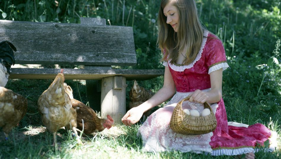 Landfrau mit Nutzvieh: Du hast so blaue Augen, Gisela