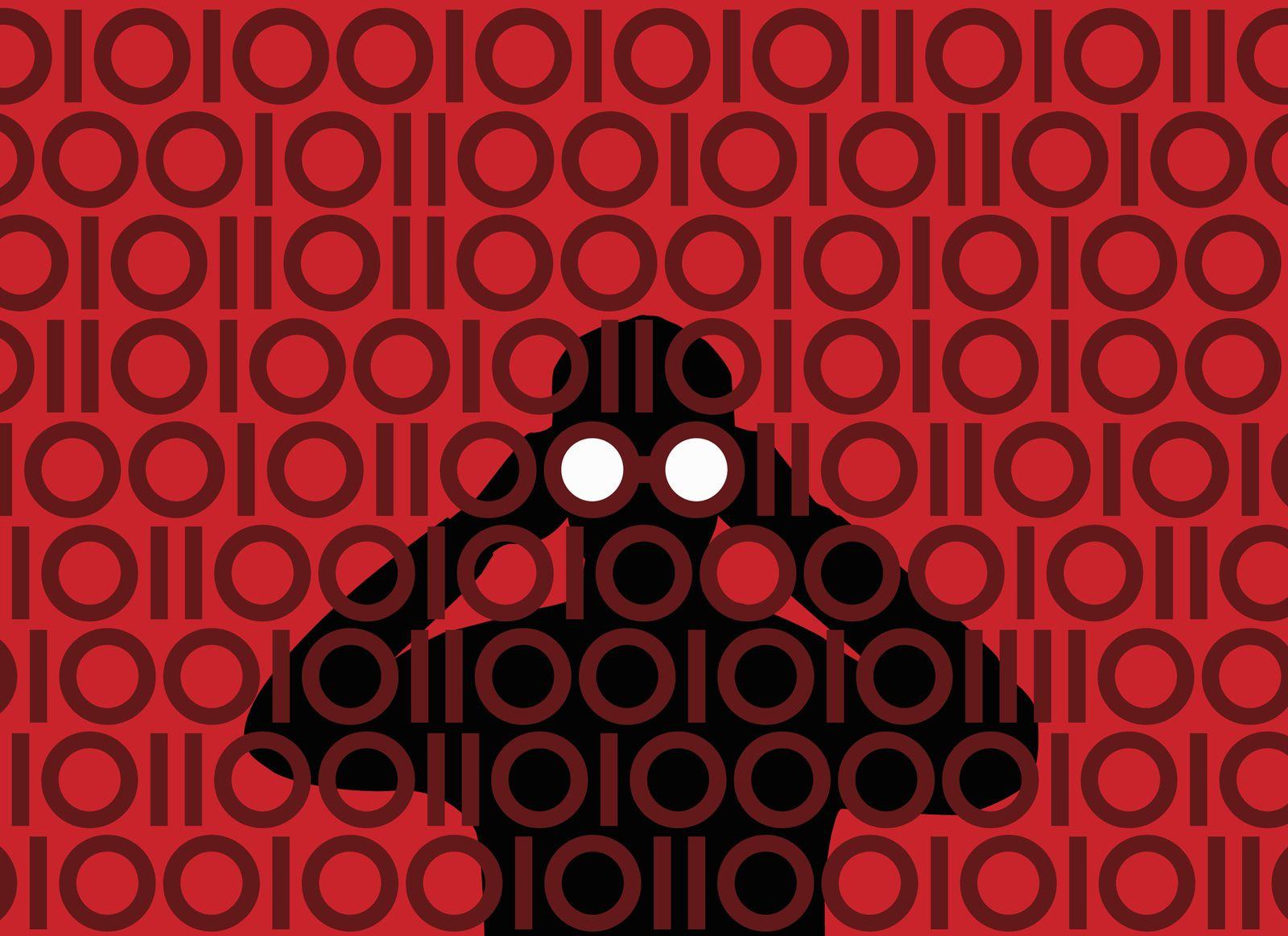 NICHT MEHR VERWENDEN! - SYMBOLBILD / Underground / Hacker / Fernglas / Spionage