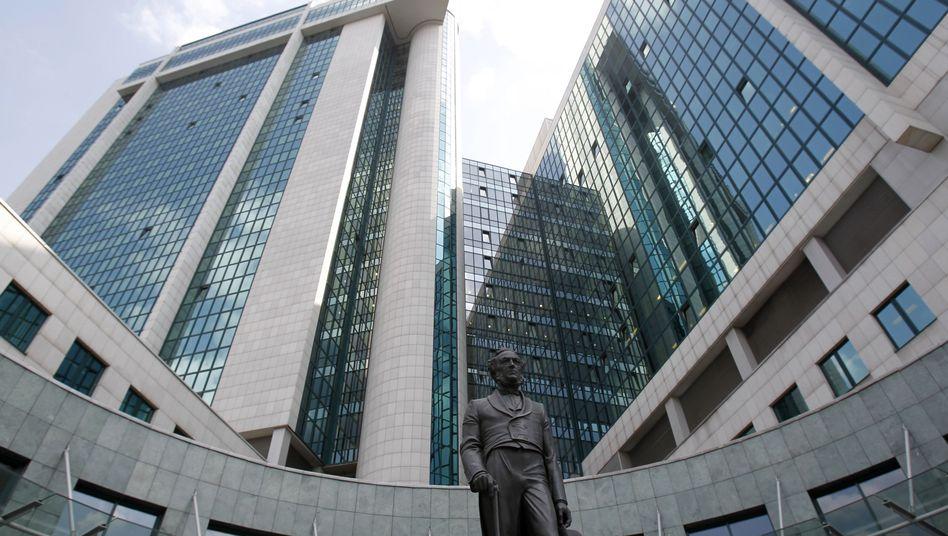 Sberbank in Moskau: Russische Zentralbank hält die Mehrheit an dem Institut
