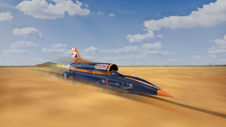 Das schnellste Auto der Welt: Mit dem Bloodhound auf Rekordjagd