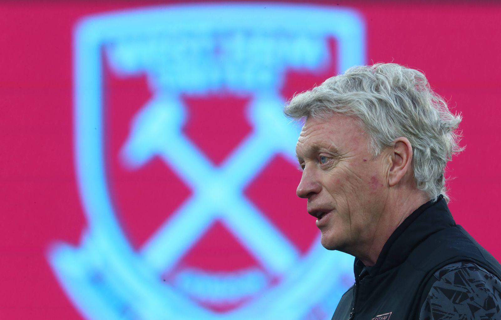 West Ham United v Liverpool - Premier League - London Stadium West Ham United manager David Moyes before the Premier Le