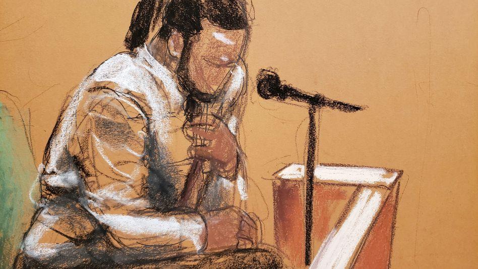 »Louis« (Gerichtszeichnung) wirft R. Kelly Missbrauch vor