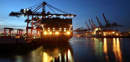 Containerschiffe im Hamburger Hafen: Protektionismus bedroht den Welthandel