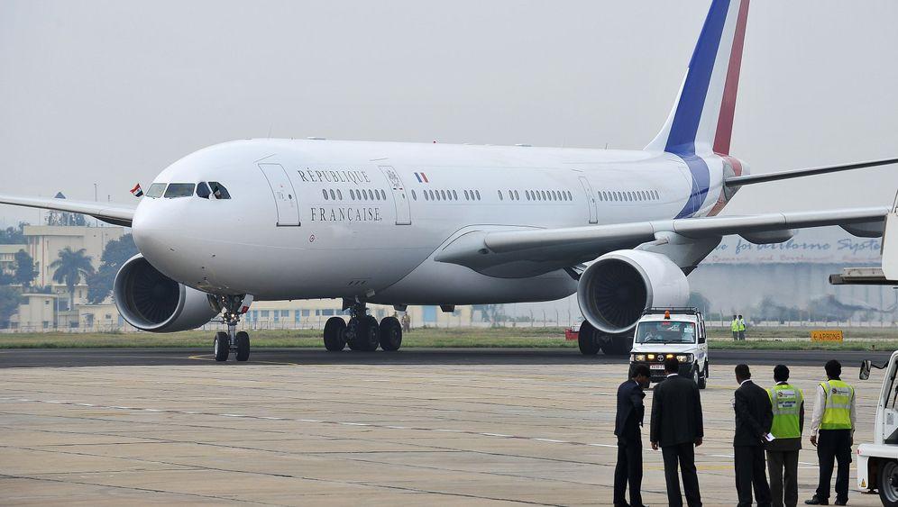 Flugzeug von Sarkozy: Fliegen und Dinieren