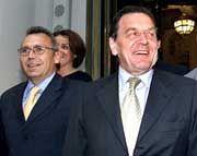 Auftakt mit dem Oppositionsführer: Schröder und SPÖ-Chef Alfred Gusenbauer