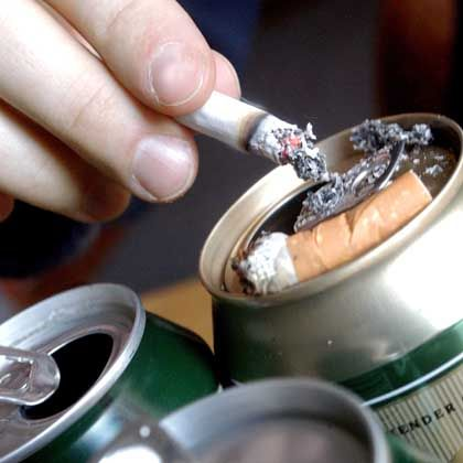 Beer can ashtray: Close to 8 percent of Germans consume 40 percent of the alcohol sold in the country.