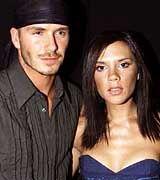David Beckham mit Frau Victoria