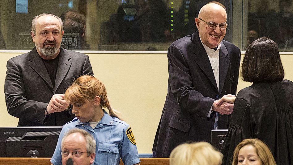 Verurteilte Popovic (l.) und Beara (r.): Bisher umfangreichster Prozess zum Völkermord in Srebrenica