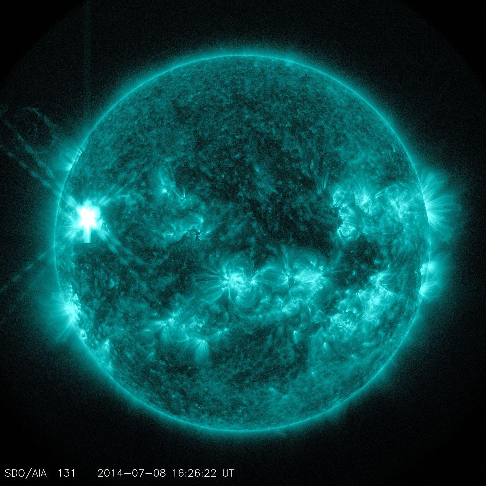 Strahlungsausbruch auf der Sonne / SDO