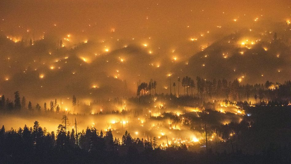 Feuer nahe dem Yosemite-Nationalpark: Flammen in Kalifornien