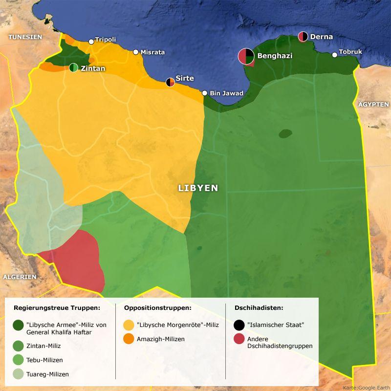 Karte - Politische Situation in Libyen v2