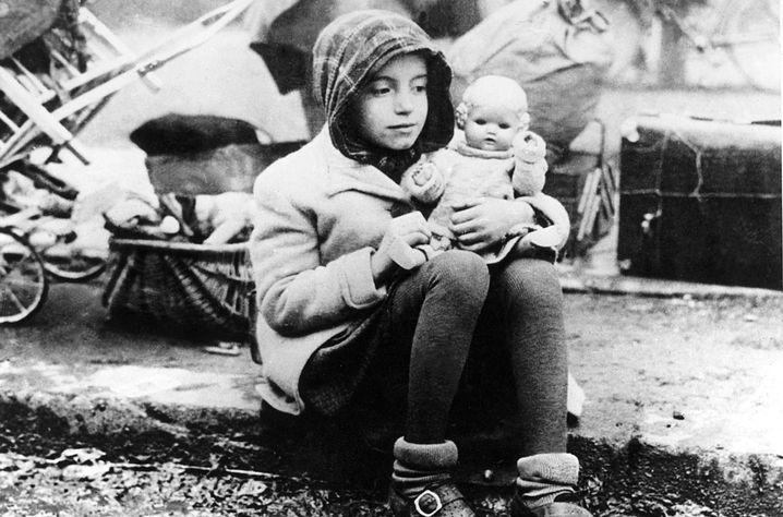 Trümmerkind aus der Nachkriegszeit