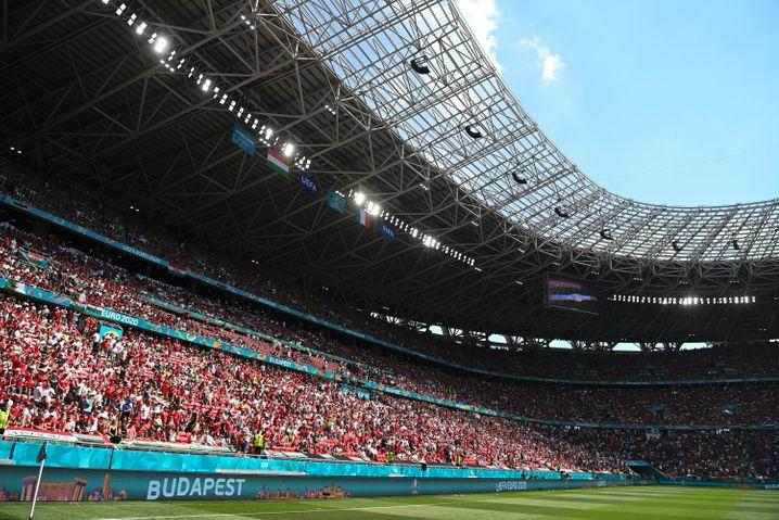Knapp 55.000 Zuschauer waren bei den EM-Spielen in Budapest – wie hier bei Ungarn gegen Frankreich