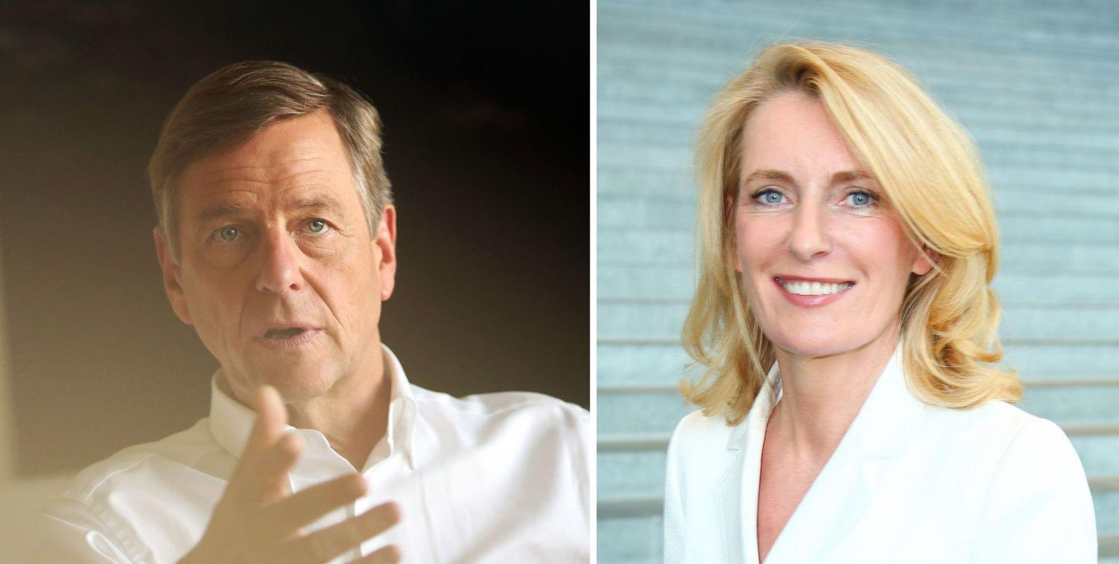 EINMALIGE VERWENDUNG Claus Kleber/ Maria Furtwängler