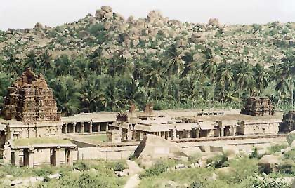 Achyutaraya-Tempel bei Hampi, der alten Haupstadt der Vijayanagar-Könige