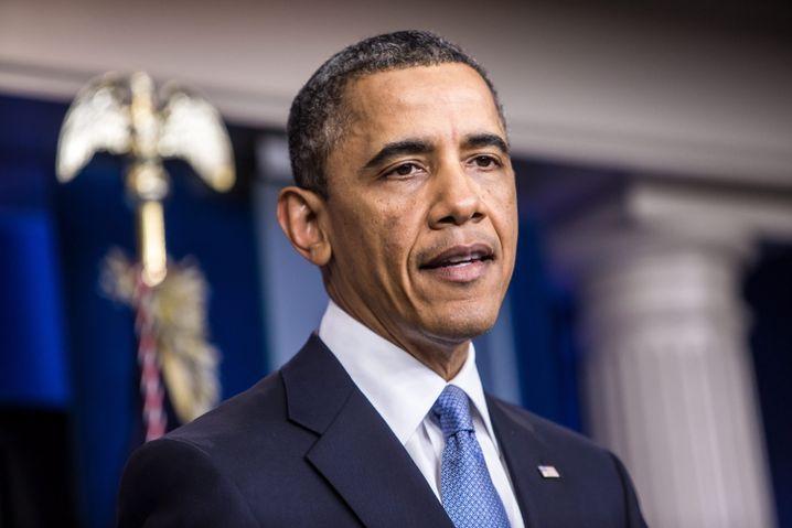 US-Präsident Obama bei einem Statement in Washington