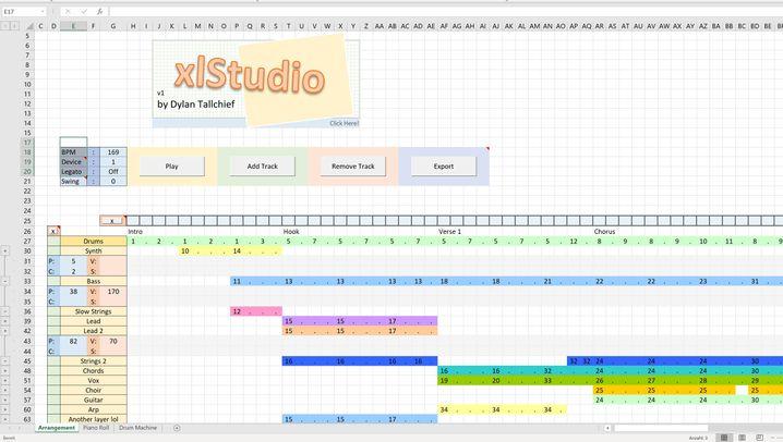 xlStudio: Musik aus Excel