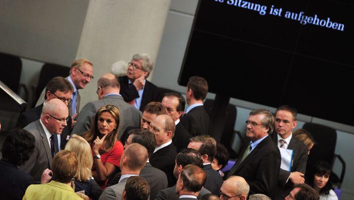 Sitzung abgebrochen: Verwirrung im Plenarsaal